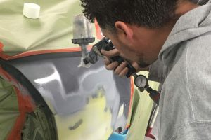 vehicle and car painting shop